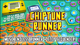 chiptune runner game promo